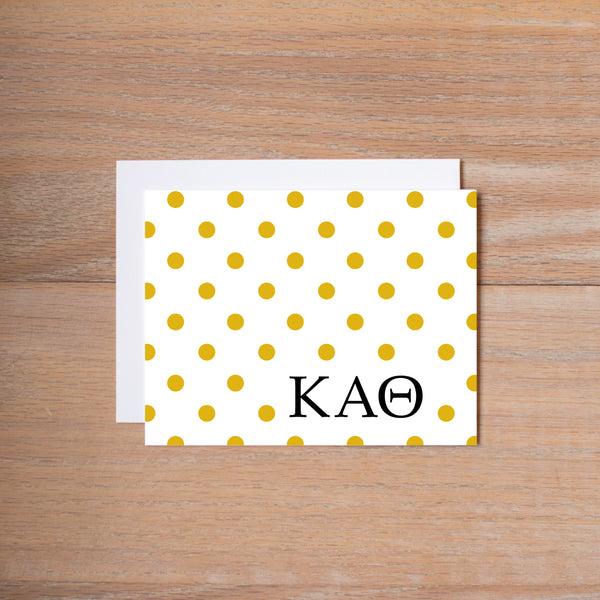 Kappa Alpha Theta Dotted Sorority Note Cards