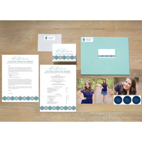 Tile Border Sorority Packet with pool presentation envelope