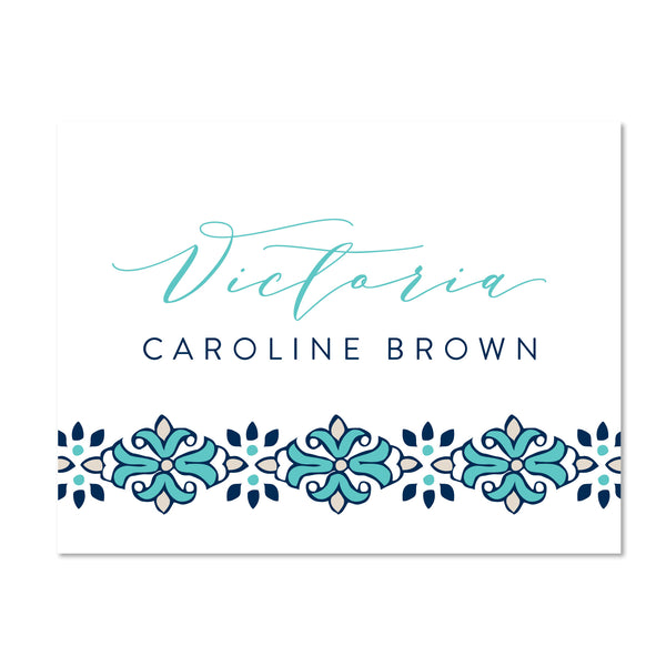 Tile Border folder sticker shown in Tiffany