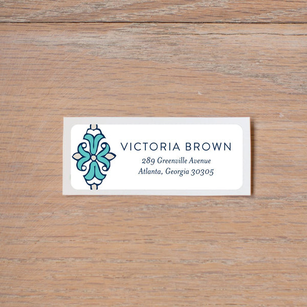Tile Border Return (Home) Address Labels