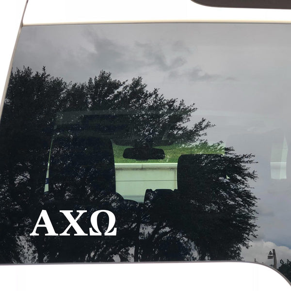 White Greek Letter Decal