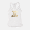 Alpha Chi Omega Gold Foil Sorority Tank