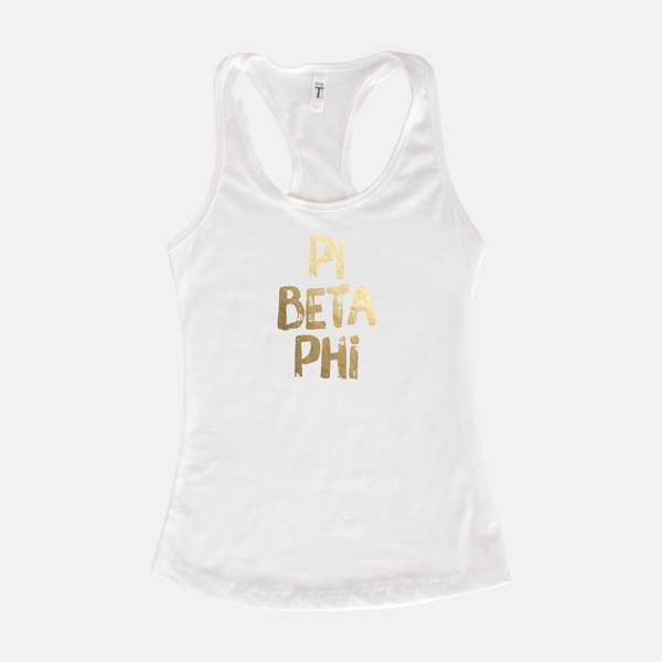 Pi Beta Phi Gold Foil Sorority Tank