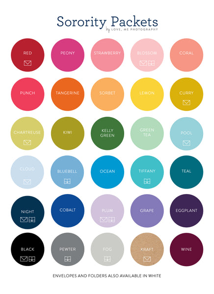 Sorority Packet Color Palette