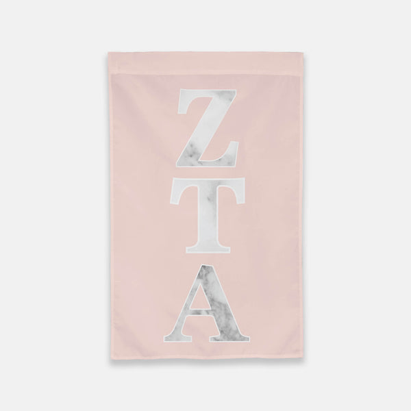 Zeta Tau Alpha Vertical Greek Letter Flag