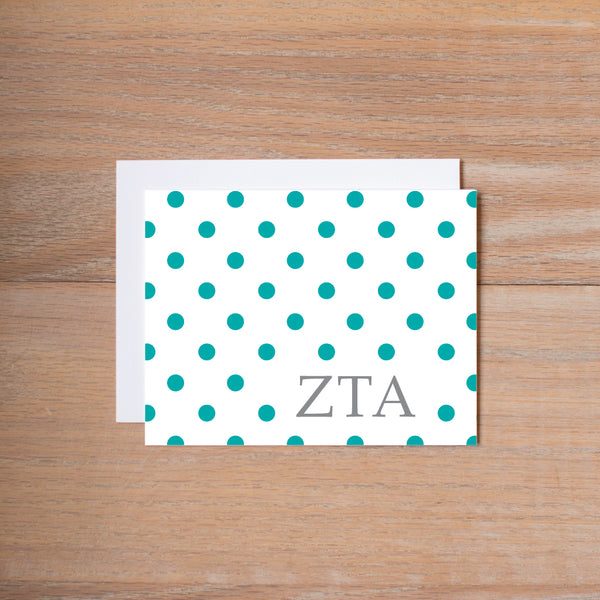 Zeta Tau Alpha Dotted Sorority Note Cards