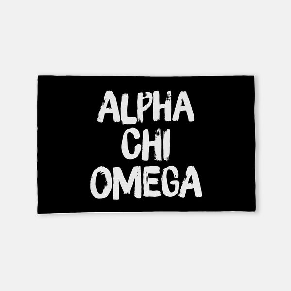 Alpha Chi Omega Black Horizontal Sorority Flag