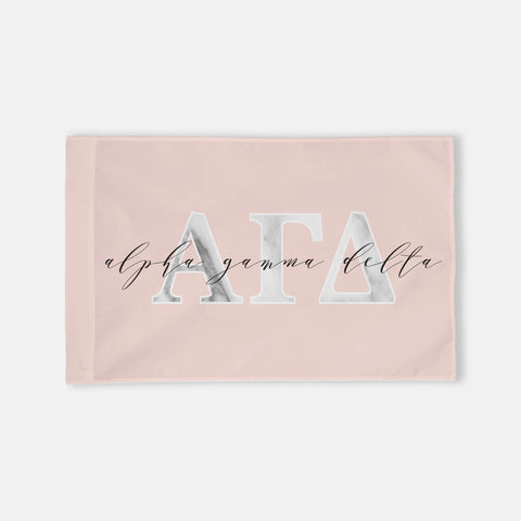 Alpha Chi Omega Horizontal Greek Letter Flag