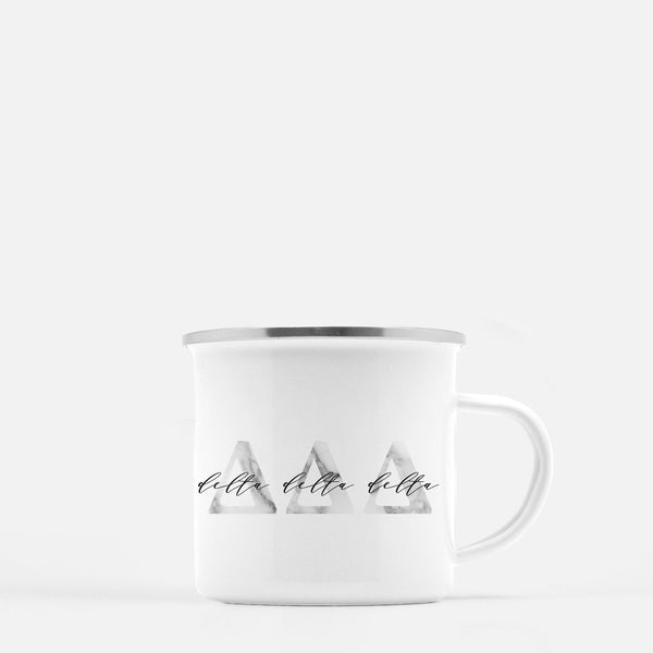 Delta Delta Delta Metal Sorority Camp Mug