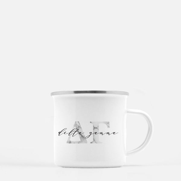 Delta Gamma Metal Sorority Camp Mug