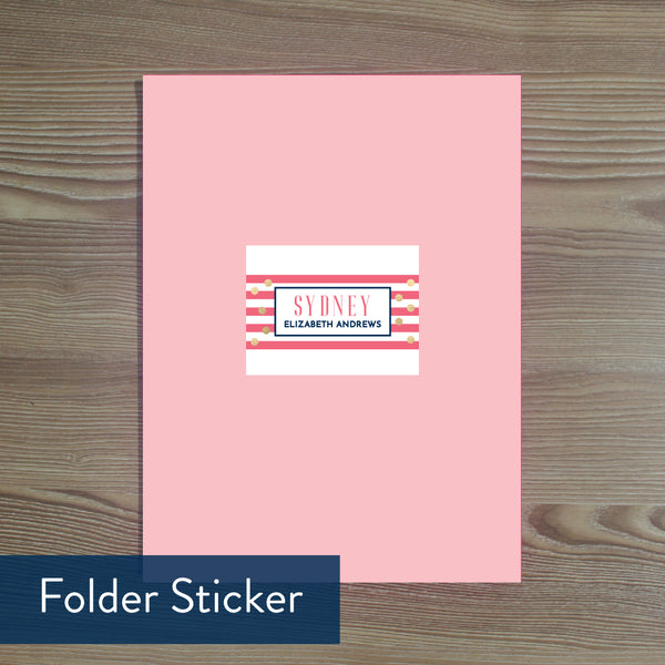 Confetti Stripes folder sticker