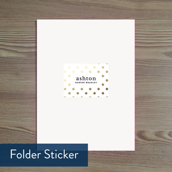 Golden Dots folder sticker