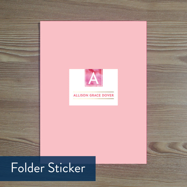 Modern Watercolor folder sticker