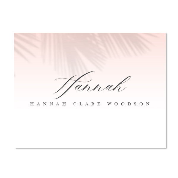 Palm Shadows Personalized Folder Stickers