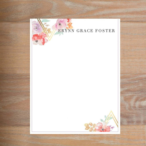 Geometric Bouquet letterhead version 2