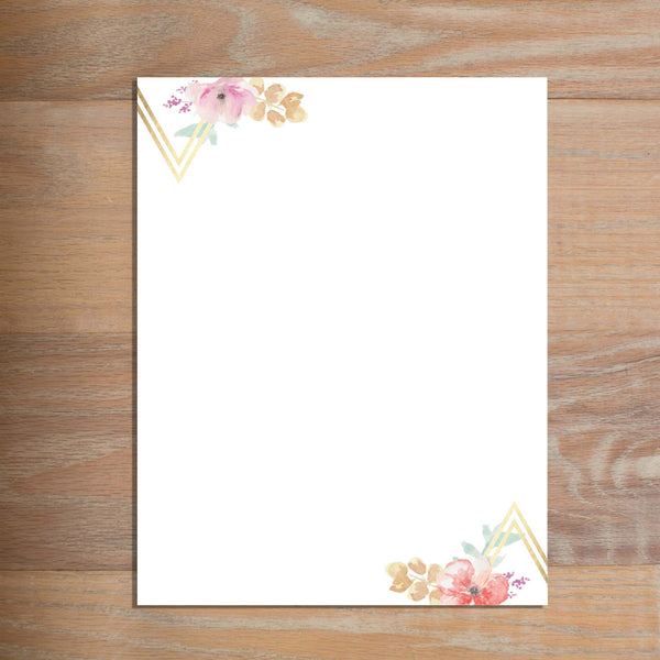 Geometric Bouquet letterhead version 3