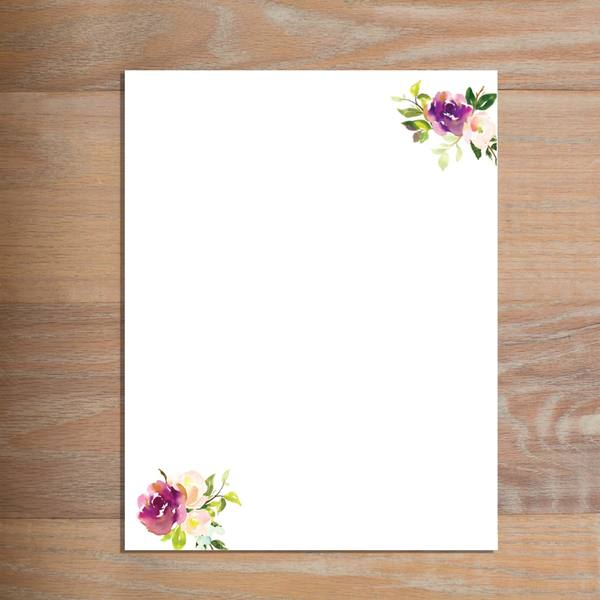 Graceful Bouquet letterhead version 3