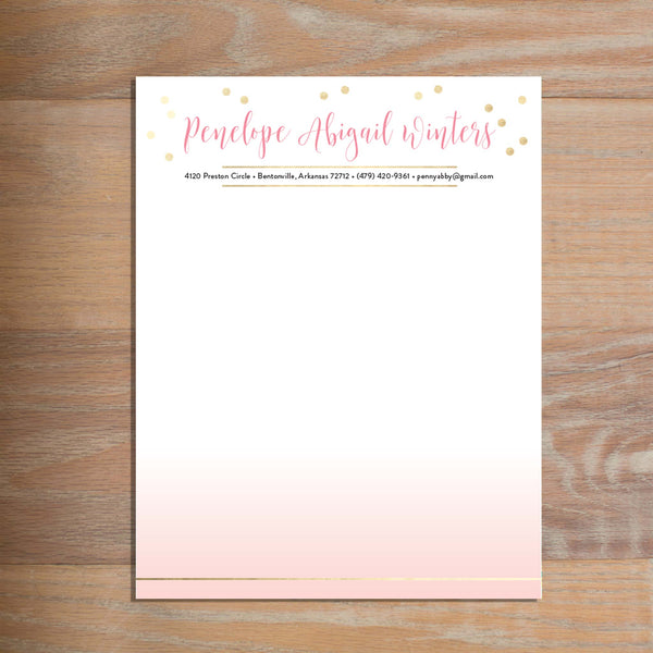 Gradient Confetti social resume letterhead without formatting