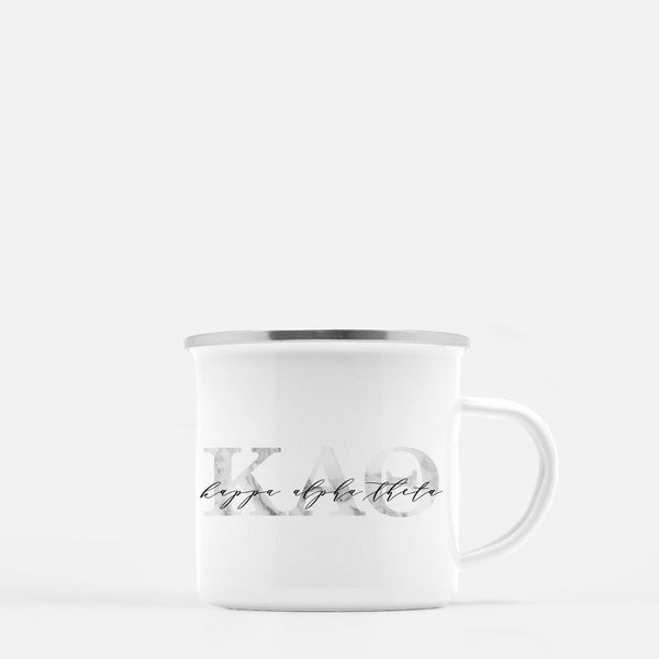 Kappa Alpha Theta Metal Sorority Camp Mug