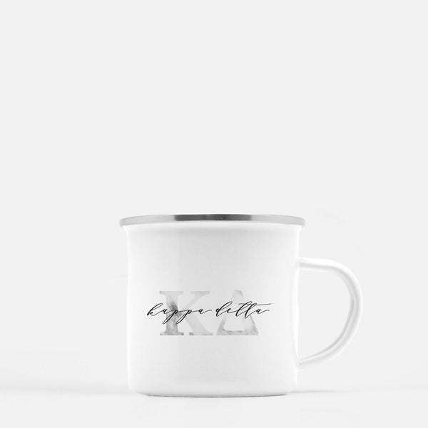 Kappa Delta Metal Sorority Camp Mug