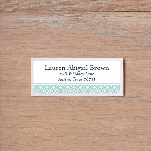 Lattice Monogram return (home) address label