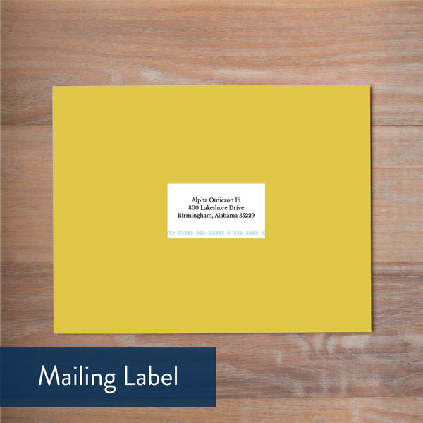 Boho Chic mailing label