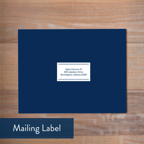 Chic Initial mailing label