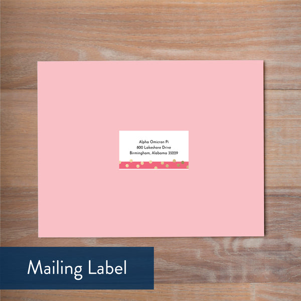 Confetti Stripes mailing label