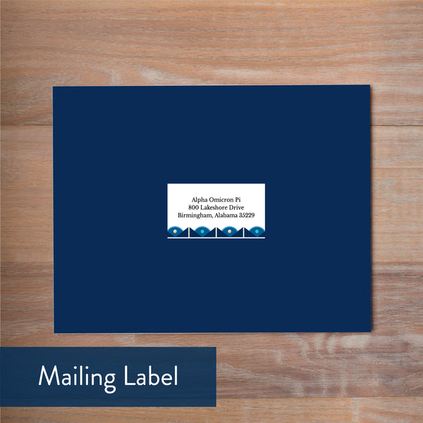 Deco Band mailing label