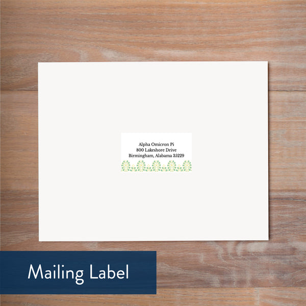 Fresh Paisley mailing label