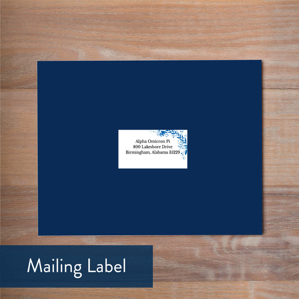 Garden Branches mailing label