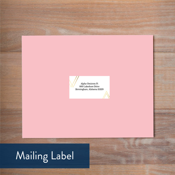 Geometric Bouquet mailing label