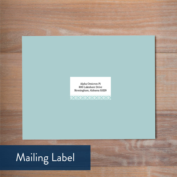 Pool Lattice Monogram mailing label