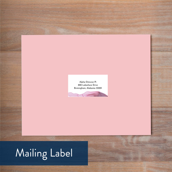 Lilac Wash mailing label