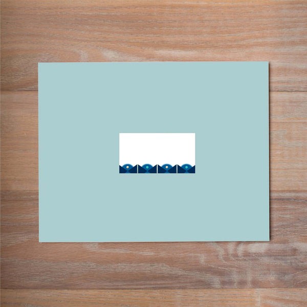 Deco Band Mailing Label shown in Night & Cobalt