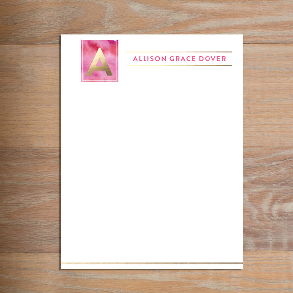 Modern Watercolor letterhead version 2