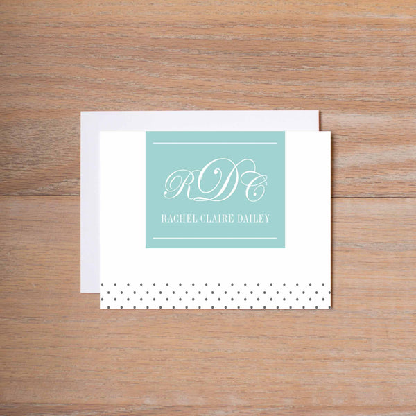 Monogram Block personal note card (if you choose to print with us, you will also receive envelopes with your note cards)