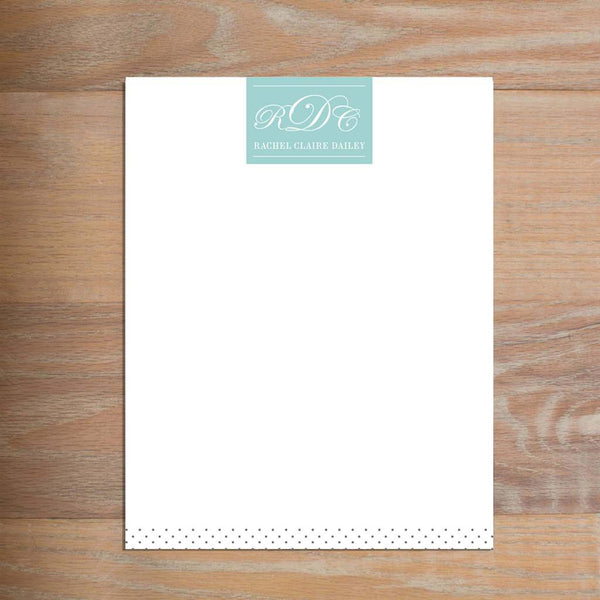 Monogram Block letterhead version 2