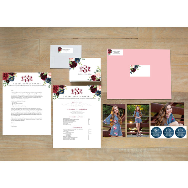 Moody Garden Sorority Packet with blossom presentation envelope