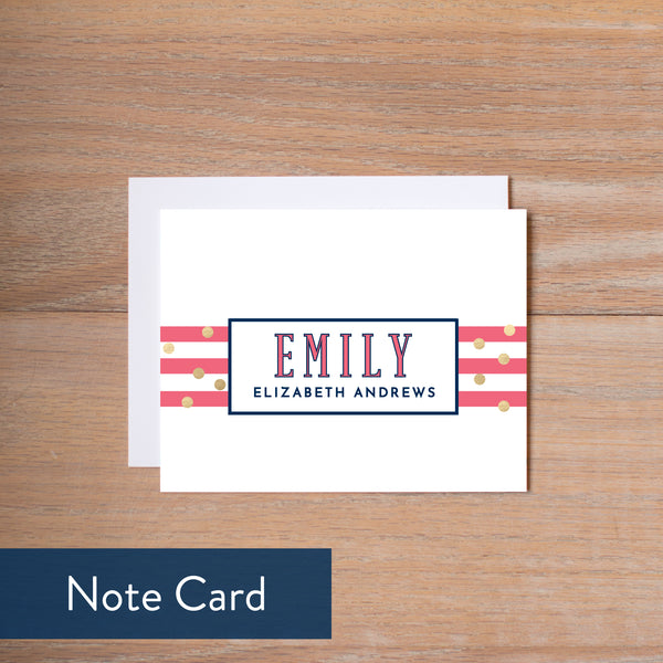 Confetti Stripes note card