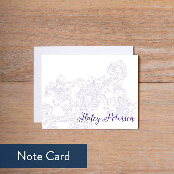 Delicate Lace note card