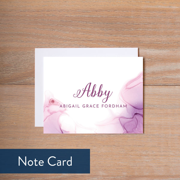 Lilac Wash note card