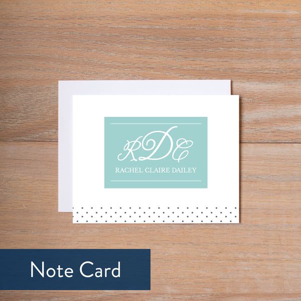 Monogram Block note card