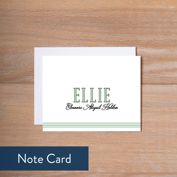 Preppy Name note card