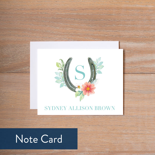 Sweet Horseshoe note card