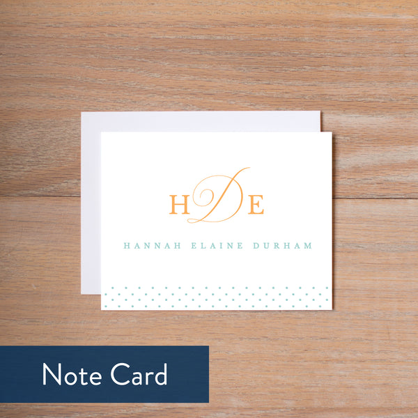 Sweet Monogram note card