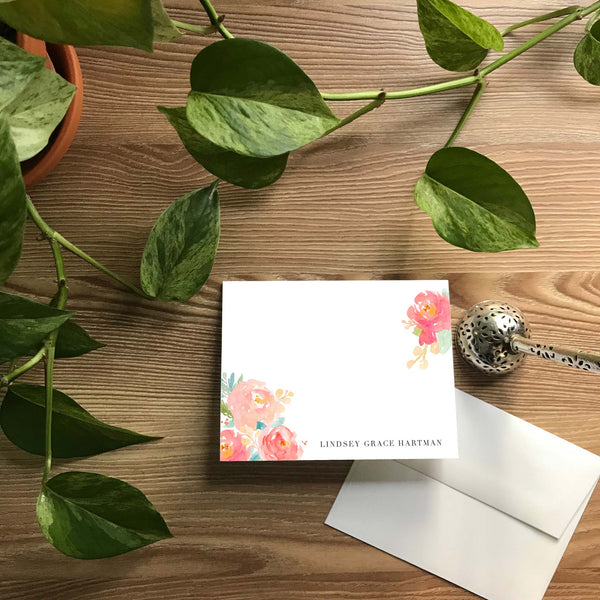 Peony Garden Folded Note Cards