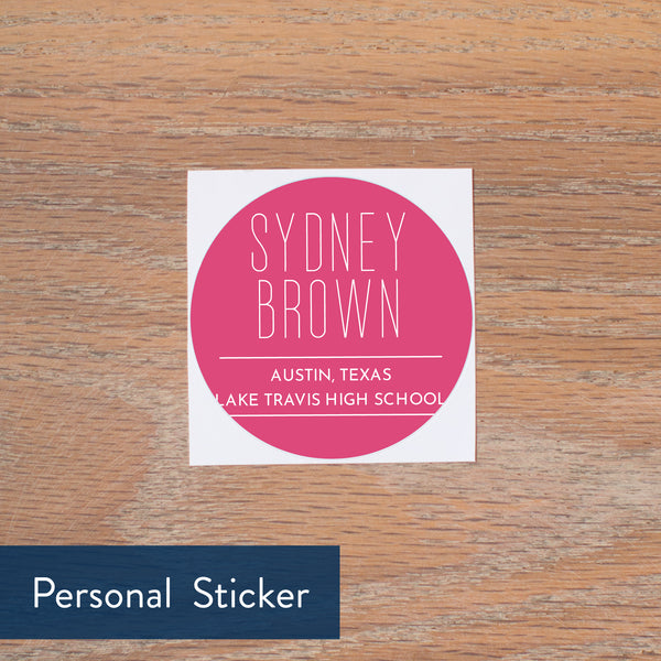 Big Name personal sticker