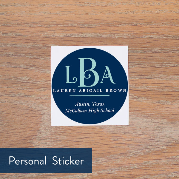 Pool Lattice Monogram personal sticker