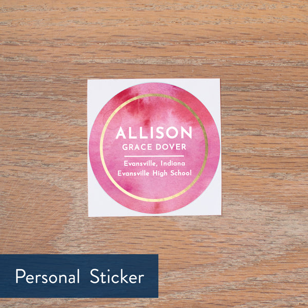 Modern Watercolor personal sticker